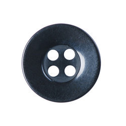 Black Plastic Round Shirt Button