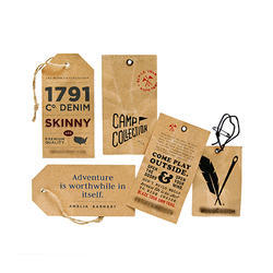 Printed Paper Tag, For Garments, Packaging Type: Box