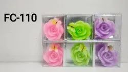 Flower With Butterfly Floating Candle(set Of 6)