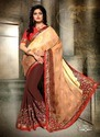 Georgette Embroidered Printed Designer Sarees With Blouse Piece
