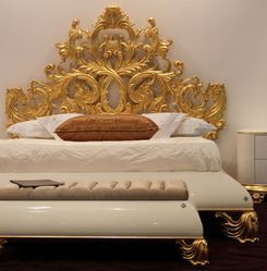 Gold leafing on Bed