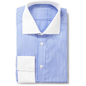 Blue & White Cotton Men