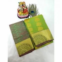 Wedding Wear Printed Arani Pattu Silk Saree, 6 m (with blouse piece)
