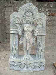Lord Surya Bhagavan Wooden Statue 3 Feet