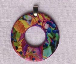 Multi Color Washer Pendants