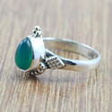 925 STERLING SILVER GREEN ONYX GEMSTONE HANDMADE RING JEWELRY WR-5007