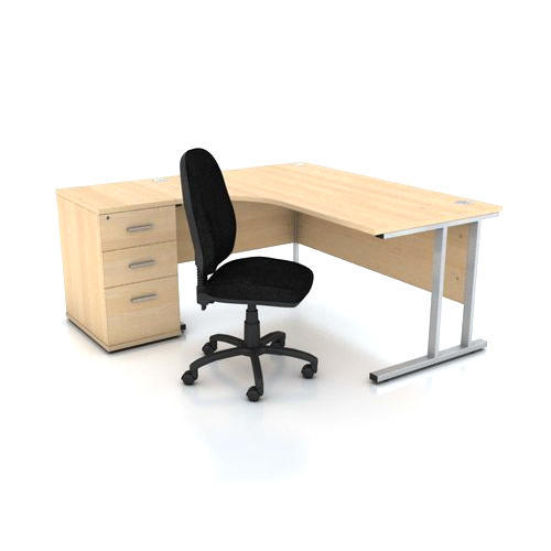 Fabric 1 Office Table And Chair Rs