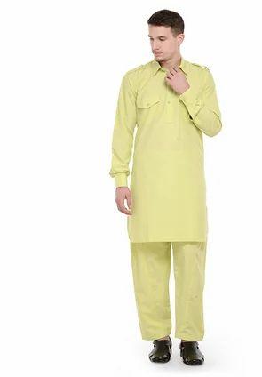 20baffd67a RG Designers (Lime Green) Pathani Kurta Salwar Set at Rs 2800.00 ...