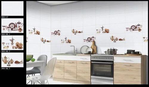 Exora Digital Kitchen Wall Tiles Thickness 5 10 Mm Size 30x45 Cm Rs 140 Box Id 20649871688
