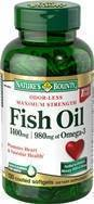 Natures Bounty Fish Oil 1400 Mg 130 Softgels, Packaging Type: Plastic Container