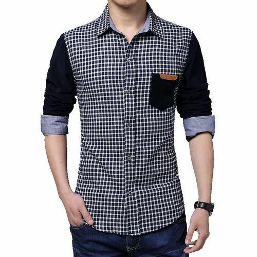 fecc731336b Small Full Men Designer Cotton Shirt