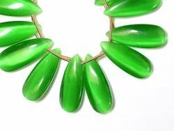 Green Fire Opal Semi Precious Stone