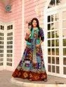 Taj Vol-2  New Latest Long Partywear Rayon With Printed And Embroidery Work Kurtis