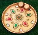 Exclusive Hand Work Pooja Thali