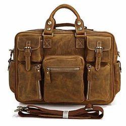 Brown DKJ Mens Fancy Leather Shoulder Bag