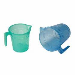 PP Green And Blue Transparent Plastic Mug