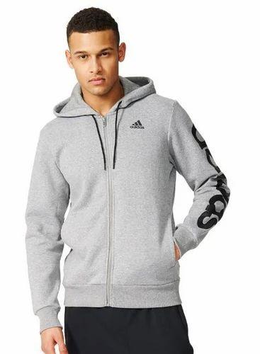 size 40 e72fe 3a733 Mens Adidas Training Linear Fz Sweatshirt B49908