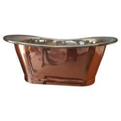 Straight Base Copper Bathtub Nickel Inside NJO-7509