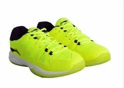 KD Li-Ning ELITE Badminton Sport Shoes - Lime & Purple Colour