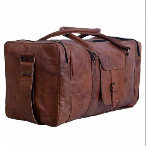 abd7f38b952c Leather Bag Handmade 22  Inch Square Duffle Bag ph460 at Rs 2599 ...