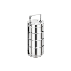 Polished Stainless Steel Tiffin