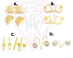 925 Sterling Silver Charm Stud Earring