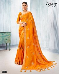 Saroj Launch Deepika Traditional Wear Vichitra Silk Saree