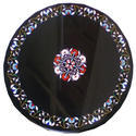 Black Marble Round Coffee Table Top