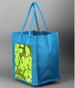Dyed Blue Jute Bag