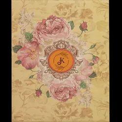 Floral Hard Bound Wedding Invitation Card, Size: 6.5