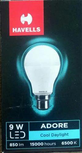PVC Round Havells LED Bulb 9 Watt