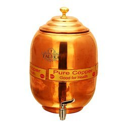 Copper Water Pot Plain Brass Knob