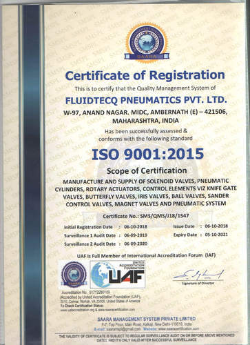 Fluidtecq Pneumatics Private Limited - Manufacturer from Additional