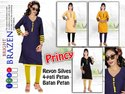Rayon Full Sleeves 4 Pati Design Front Button Kurti