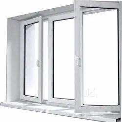 Hinged White Casement UPVC Windows, Glass Thickness: 5-30 Mm