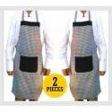 Blended Checked Apron-cook Apron-bib Apron-kitchen Apron-unisex Apron-chef Apron, Size: Fit