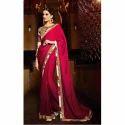 Ladies Sanganeri Silk Saree And Blouse, Length: 6 M