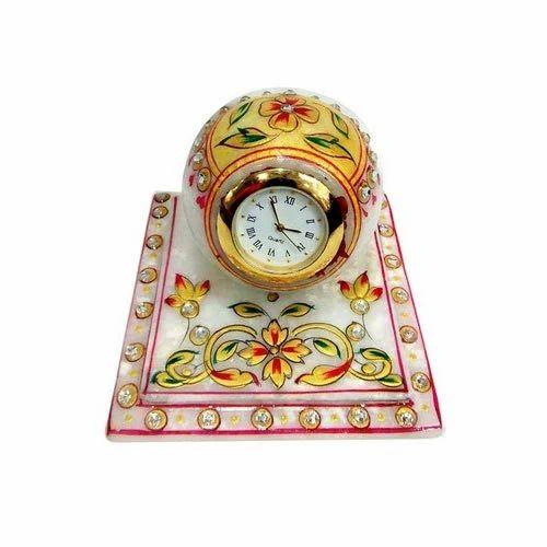 ef0117cb61d Satrangi Fancy Marble Table Clock