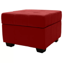 Fabric Red Pouf Ottoman