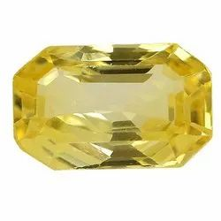Flawless Top Color Natural Ceylon Yellow Sapphire