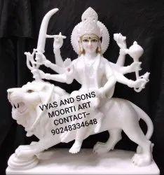 White Marble Durga Moorti