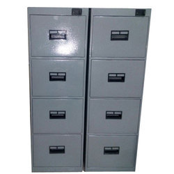 Mild Steel Gray Office File Cabinet, No. Of Drawers: 4