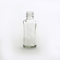 Transparent Conical Glass Bottle