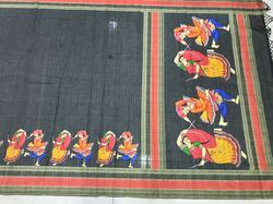 Ladies Linen Digital Printed Silk Saree
