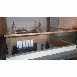 Designer Wooden Glass Balcony Grills, For Home