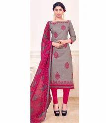 Cotton Work With Print Casual Wear Salwar Kameez- Sparxz64