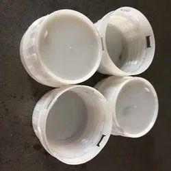 Round White Plastic Pesticide Bottle Cap