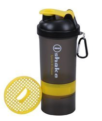 Soot Body with Yellow Lid Storage Shaker Bottle