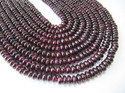Genuine Garnet Rondelle Plain Beads