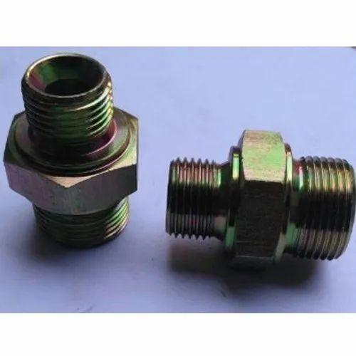 SKI Mild Steel MS Hydraulic Hex Adaptors